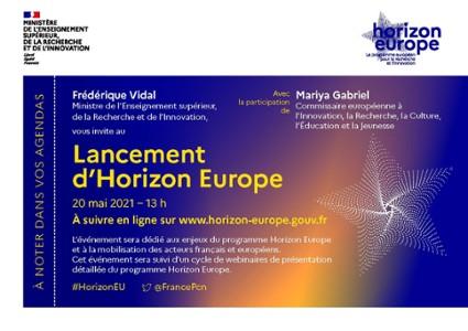 Lancement Horizon Europe